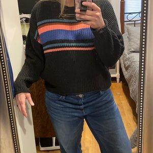 AE | EUC Color Stripe Crew Knit Sweater